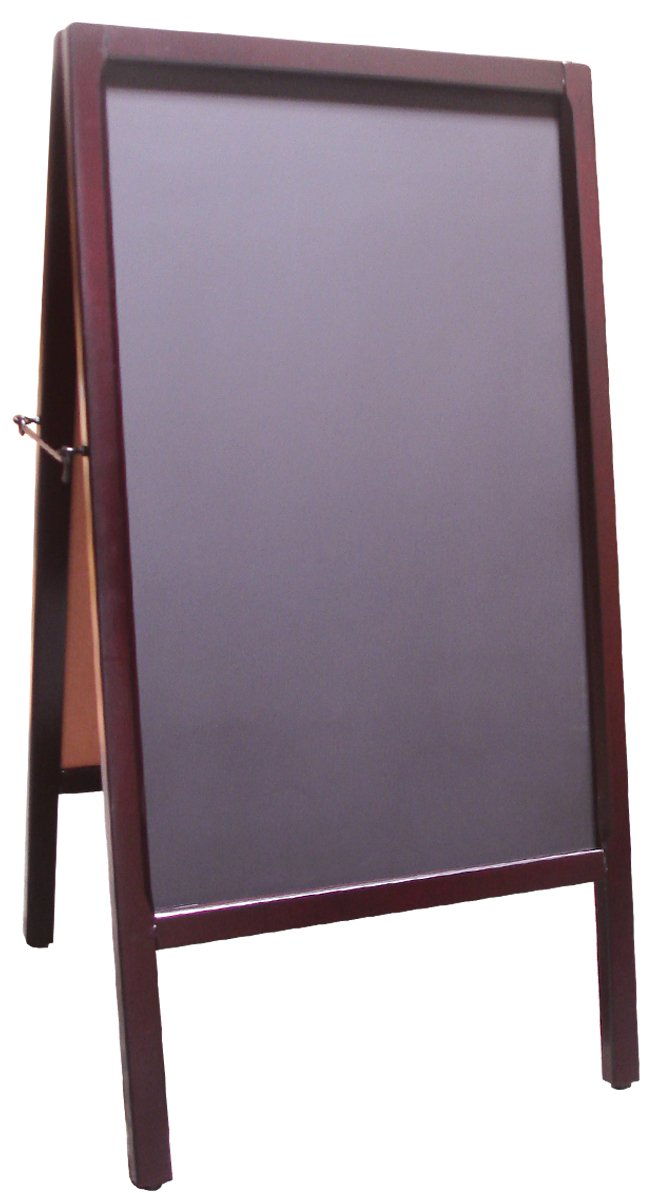 Amazon.com : Signworld Double Side Sidewalk A Frame Chalkboard menu ...