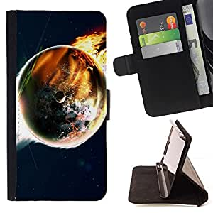 DEVIL CASE - FOR Samsung Galaxy S6 EDGE - Space Planet Galaxy Stars 50 - Style PU Leather Case Wallet Flip Stand Flap Closure Cover