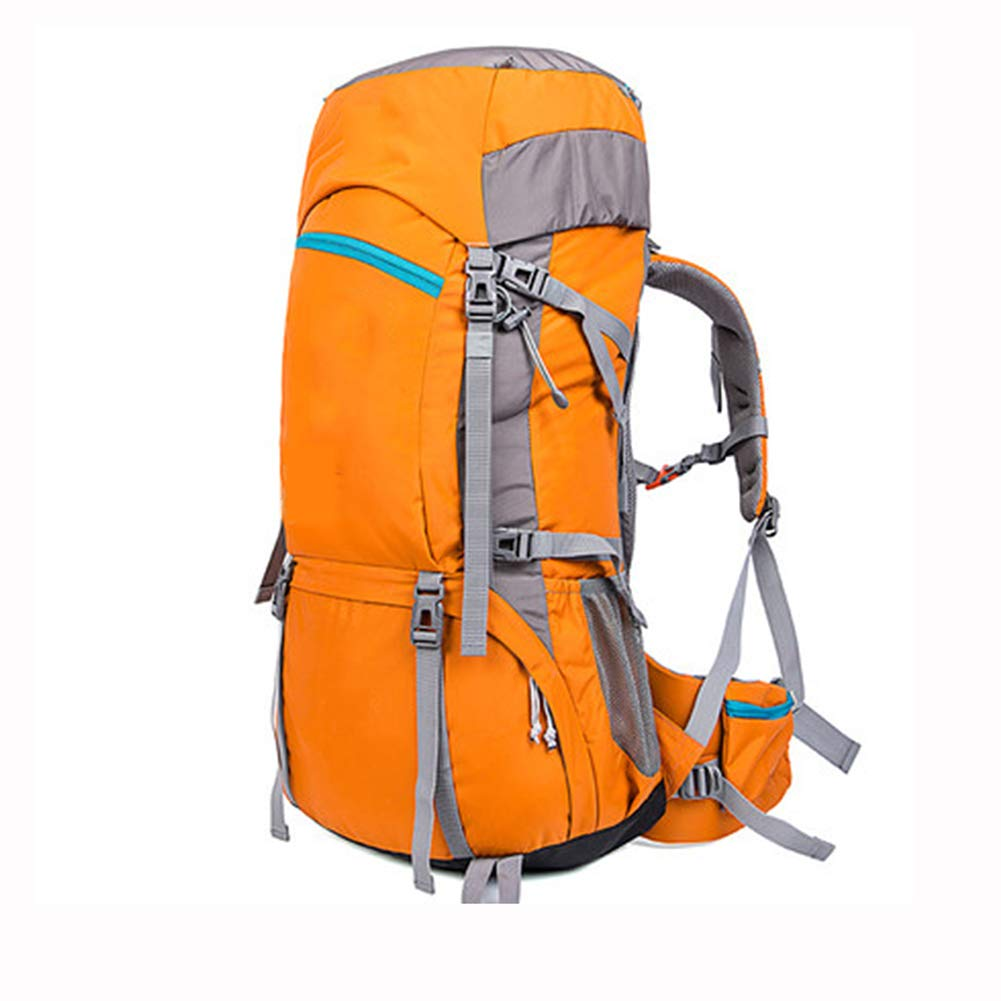 60Lアウトドアスポーツハイキングバックパック、 ナイロン布、 ロッククライミング/観光、 男性と女性,Orange B07R2MRFR8 Orange