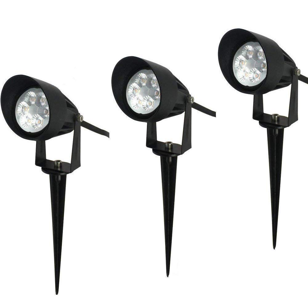 Brothersled outdoor landscape led lighting 12vac dc low voltage spotlights ip67 waterproof light fixture for garden yard path uplighting 3 pack