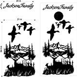 Duck Hunter Buck Deer Hunting Cornhole Decals Stickers - Extra Large (2 Decals) - Wall Decals - Vinyl Stickers