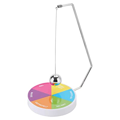 Decision Maker Pendulum Dynamic Desk Toy Gift Decoration Magnetic Ball Swinging Pendulum Game(2): Kitchen & Dining