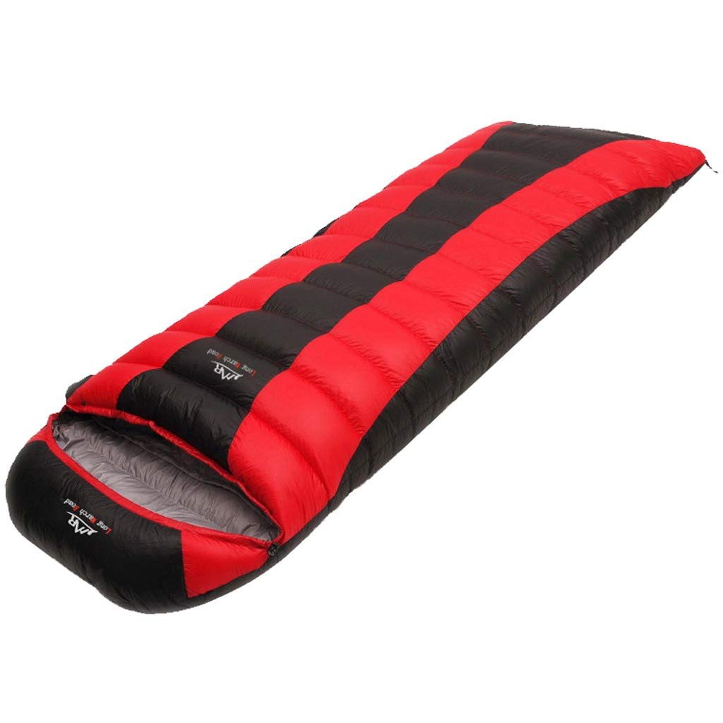 キャンプの寝袋、暖かい、防水封筒の軽量ポータブル、4シーズンの旅行に最適、優れたキャンプ用品、旅行、そして野外活動(大人&子供) B07P1QNZCB Red 600g 600g|Red