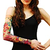 76cc3ded6 Wild Rose Unisex PINK RIBBON BRIGHT Single Tattoo Mesh Sleeve Breast Cancer  Survivor, Tan, Small