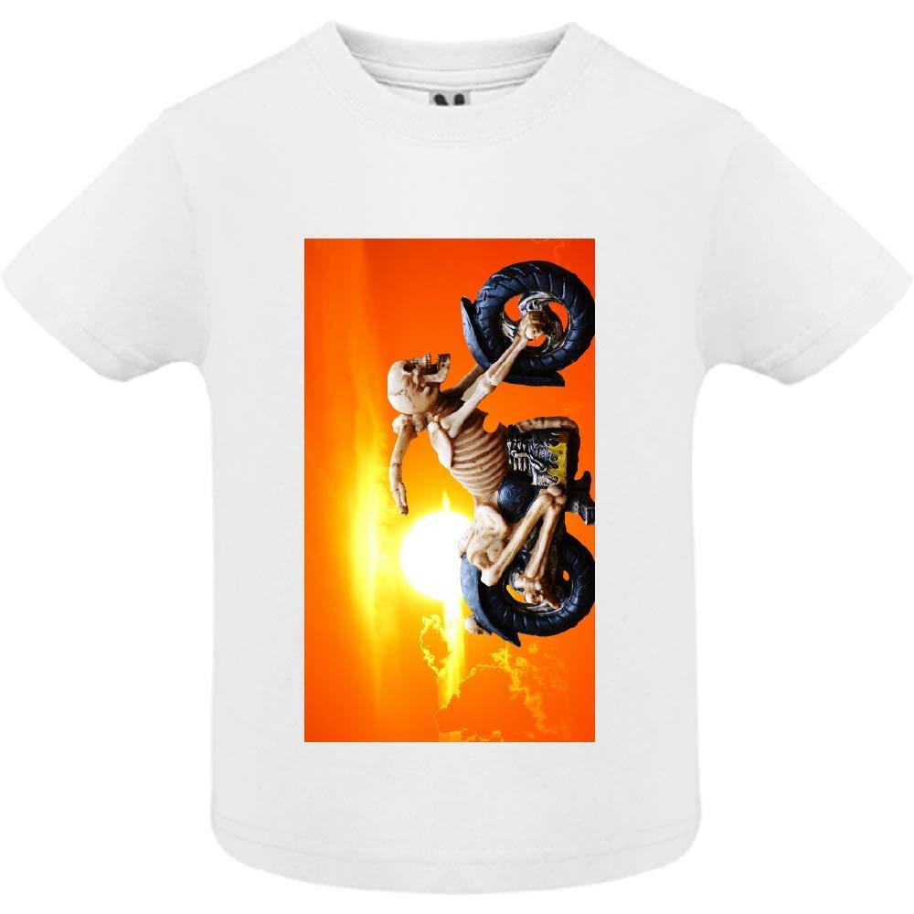 access-mobile-ile-de-re.fr T-Shirt - Manche Courte - Col Rond - Biker 2 - Bébé Garçon - Blanc - 6mois