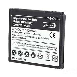 Sut Reemplazo de la batería 1800mah negro para g20 g19 htc�
