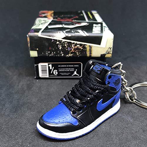 Air jordan I 1 Retro High OG Royal Blue Black Sneakers Shoes 3D Keychain 1:6 Figure + Shoe Box (Air Jordan 1 Retro Royal)