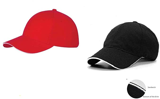 c6efba943f Online Quality Store Cap for Men's and Women's, (Red and Black ...