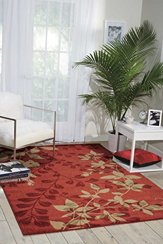 (Nourison Somerset (ST76) Brick Rectangle Area Rug, 3-Feet 6-Inches by 5-Feet 6-Inches (3'6
