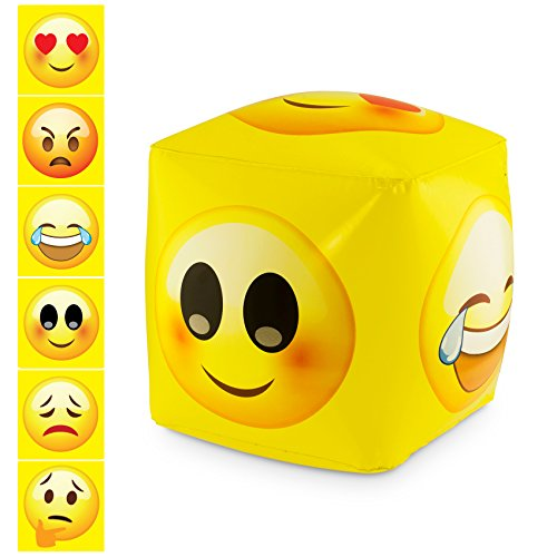 KOVOT Inflatable Emoji Emotions Cube - Includes (1) 13