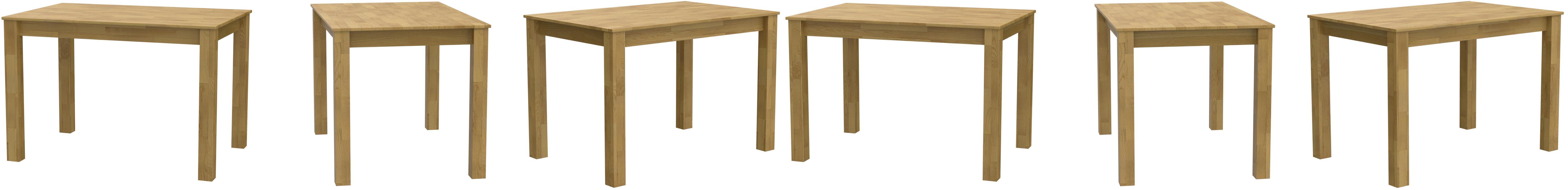 Krok Wood Tavolo da Pranzo Bonn in Legno di Rovere 110x75x75 cm