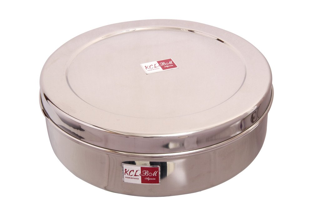 KCL Chapati Box   1500 ml Stainless Steel Multi Purpose Storage Container Lunch Boxes