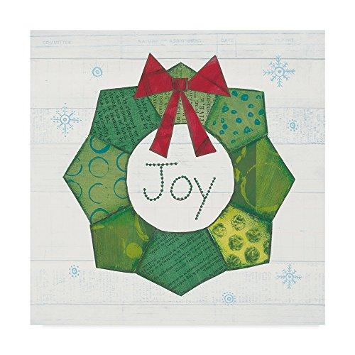 Christmas Patchwork II by Courtney Prahl, 24x24-Inch
