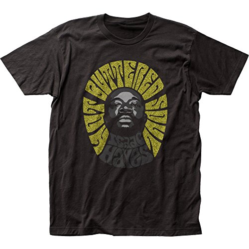 Isaac Hayes Hot Buttered Soul Fitted Jersey tee (XL) Black (Best Of Isaac Hayes Xl)