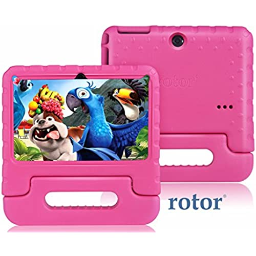 rotor 7 HD 8GB Quad Core Android Kids Tablet - |Shockproof Protected| Kids Mode Apps KIDOZ Pre-Installed - Dual Coupons