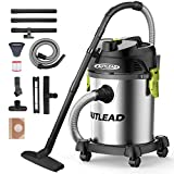 Cheap AUTLEAD Vacuum WDS03A 5 Gallon 1200W Pure Copper Motor 5.5 HP Wet/Dry/Blow 3 in 1 Shop Vac, Stable Round Bucket Design with Pulley System, HEPA Disposable Bag, 3 Brush Included, 5.5 gal, Black