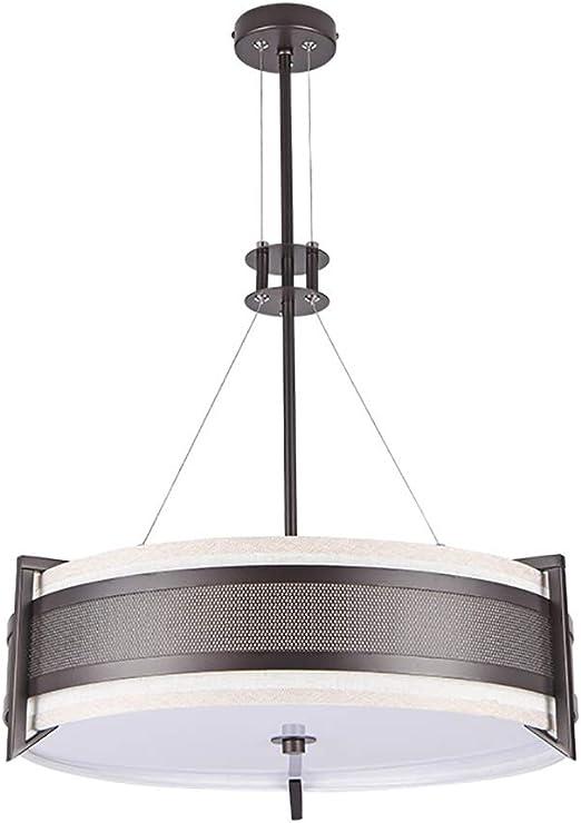 RSGK Araña de Tela de Restaurante Simple, lámpara de araña Moderna Interior, Fuente de luz E14, Adecuada para restaurantes, dormitorios, cafeterías, etc.: Amazon.es: Hogar