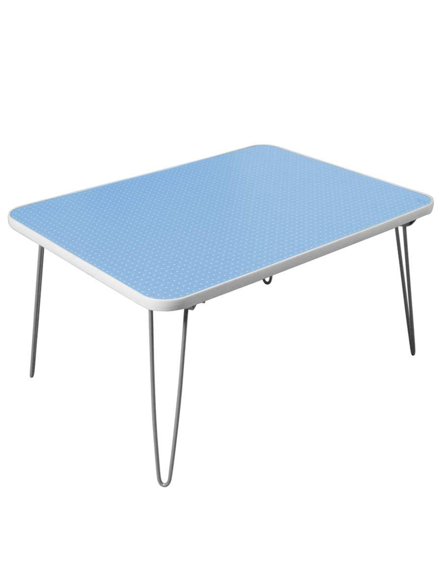 CWJ Table- Folding Table Colorful Wood - Based Panels Waterproof Fold Portable Practical Coffee Table Small Table Save Space Dormitory Student Easy Lazy Bed Simple Home,2 by CWJ (Image #1)