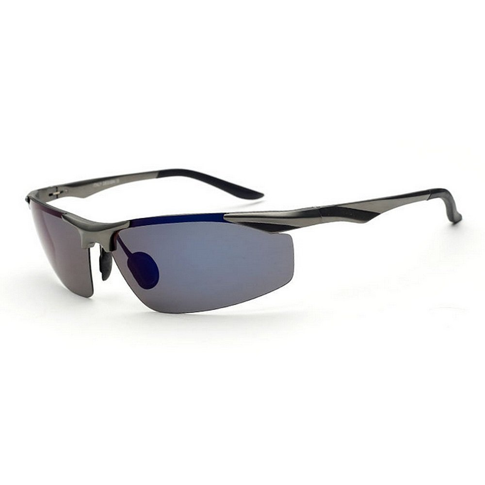 3212ea8120 Ofgcfbvxd Men s Women s Personality Semi-Rimless Style Aluminum Magnesium  Frame Polarized Sports Sunglasses For Driving Fishing Travelling Outdoor ...