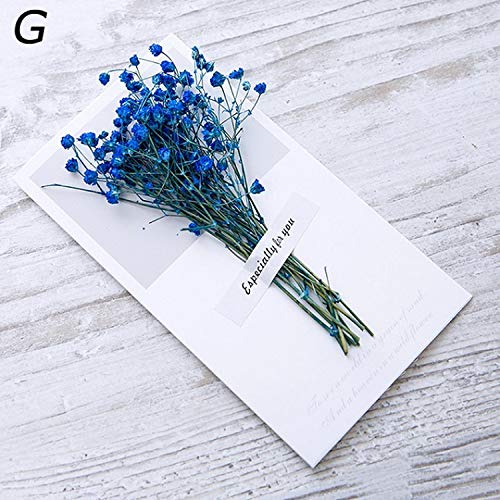 OUOK Creative Dried Flowers+Papercard Folding Type Greeting Cards Christmas Birthday Party Wedding Invitations 13 Colors 8C1919,G (Best Etsy Shops For Wedding Invitations)