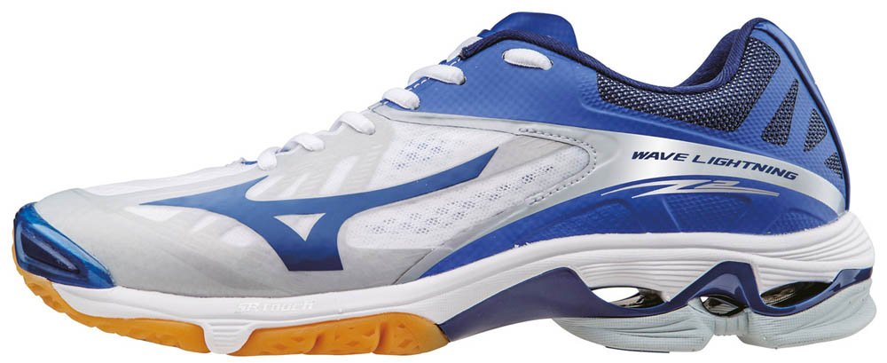 Mizuno Herren Wave Lightning Z2 Volleyballschuhe, Blau  40 EU|Wei? (White/Dazzlingblue/Twilightblue)