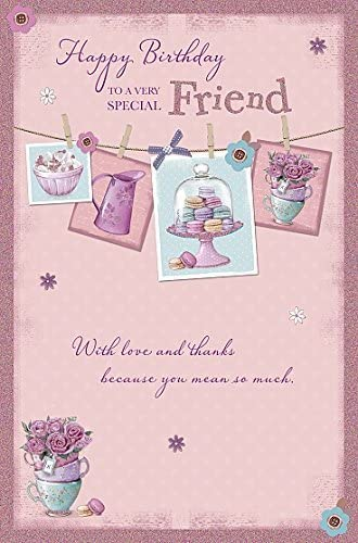 Swell Amazon Com Special Friend With Love And Thanks Happy Birthday Personalised Birthday Cards Paralily Jamesorg