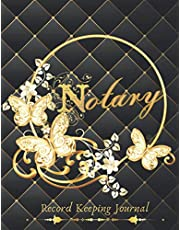 Notary Record keeping Journal: Notary Public Log Book | Notary Record Template | Notary Supplies | Notarial Large Entries Record Logbook ( for women )
