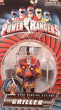 Power Rangers Turbo Evil Space Alien Griller Horn Honking Action MOSC MOC Rare