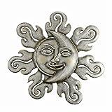 SPI Home Sun & Moon Half Face Garden Wall Plaque