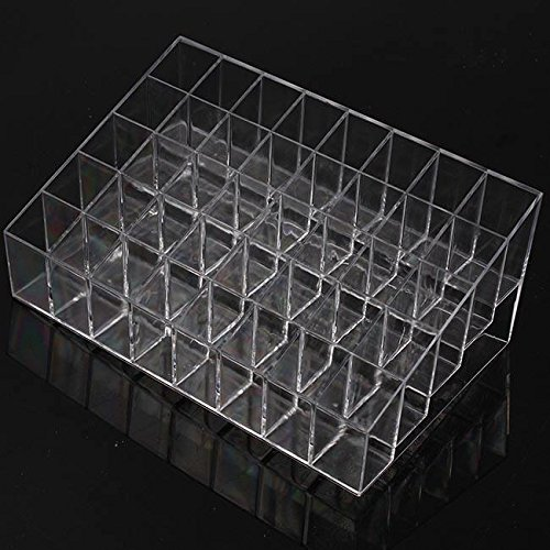 Cheap Kelvin Clear Acrylic 40 Lipstick Holder Stand Display Cosmetic Makeup Organizer Case supplier
