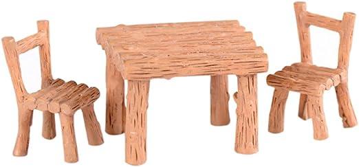 Floralby Kit de Jardín de Hadas, sillas de Mesa en Miniatura ...