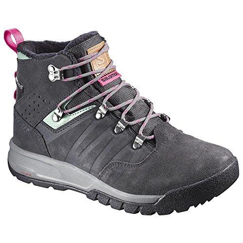 Salomon Women's Utility Pro TS CSWP W Winter Boots, Grey Leather, Synthetic, 9.5 B