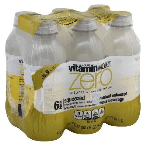 Glaceau vitaminwater Zero Squeezed Lemonade Nutrient Enhanced Water Beverage, 16.9 fl oz, 6 - Water Enhanced Beverage Nutrient