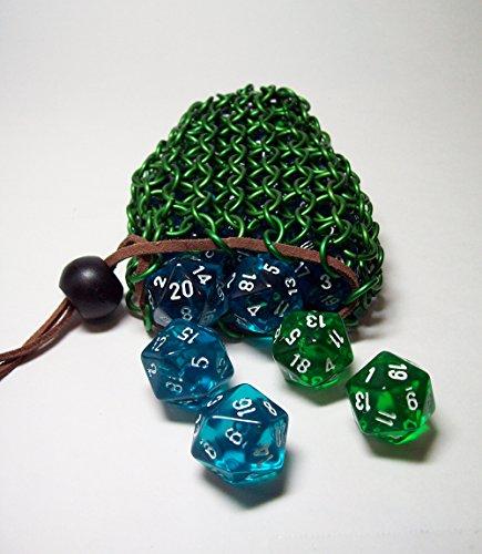 Dicebag, dice bag, chainmaille pouch, geek, geeky, geekery
