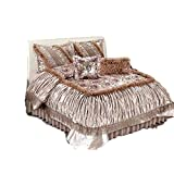 Tache Home Fashion MZ1158-Q Comforter Set, Queen, Beige