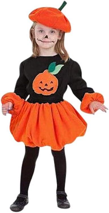 K-Youth Vestidos Niña Invierno Disfraz Halloween Calabaza Ropa ...