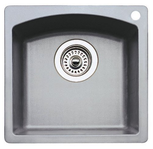 Bar Silgranit Sink (BLANCO 440203 Diamond Bar Sink Silgranit II-Metallic Gray)
