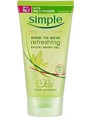 Simple Kind to Skin Refreshing Facial Wash Gel (150ml) - Pack of 2