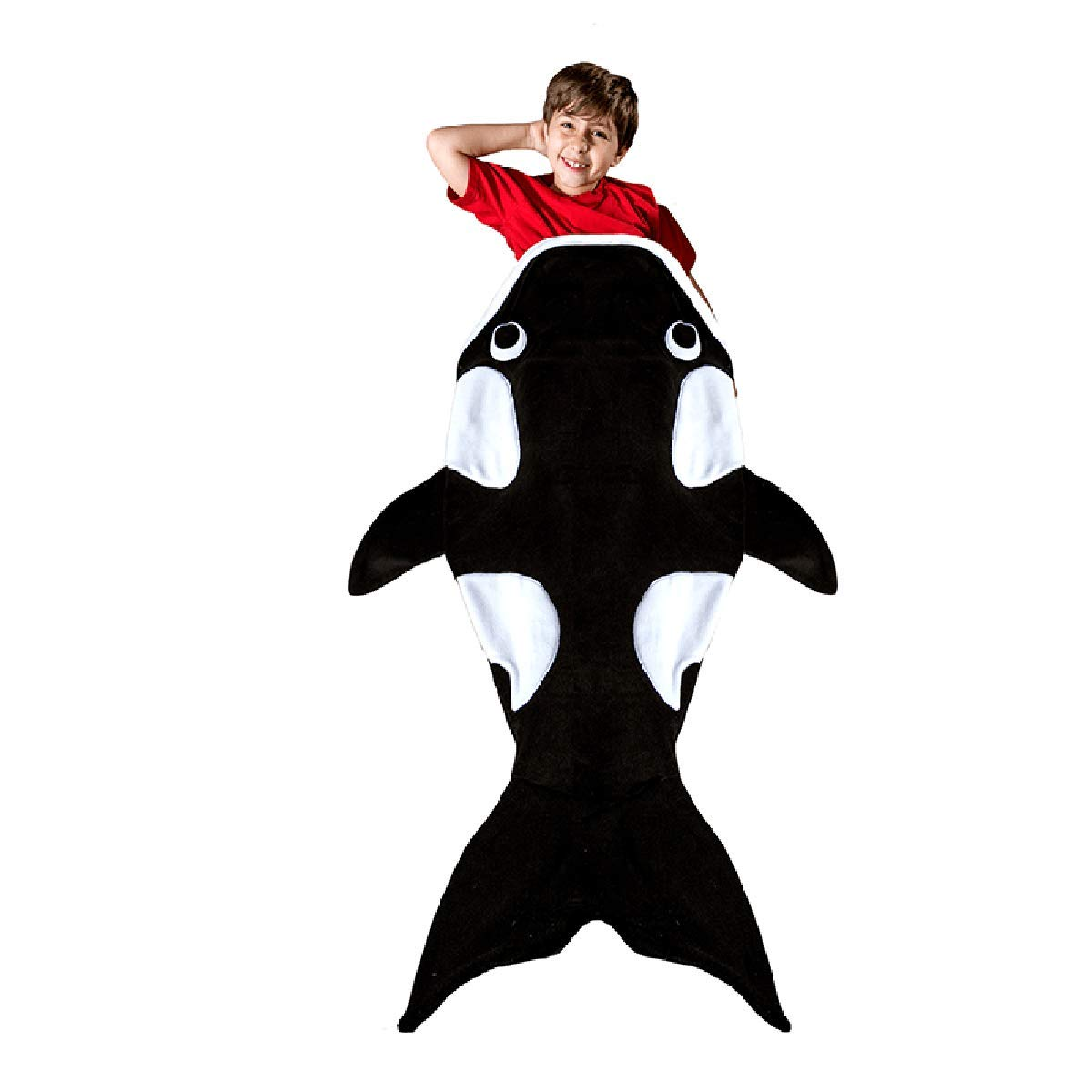 Orca Whale毛布の子   B076KZT9KM