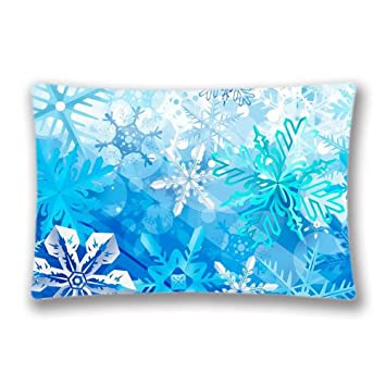 Christmas Pillow Cover Background Case Farmhouse Throw Retro Ornaments 20x30inch