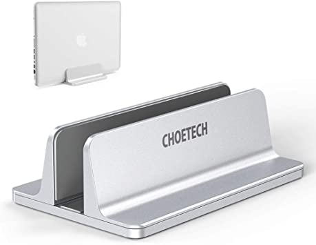 Vertical Laptop Stand,CHOETECH Desktop Aluminum Stand with Adjustable Dock Size Kindle and so on Holder for All Apple MacBook Air MacBook Pro,iPad Air