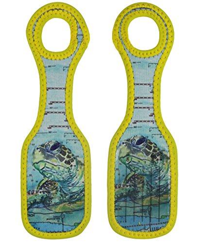 (Neoprene Designer Luggage Tags by ART OF TRAVEL - Sea Turtle)