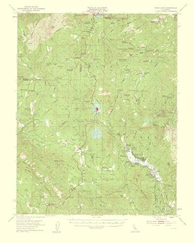 Lake Grove Satin - MAPS OF THE PAST Bass Lake California Quad - USGS 1959-23 x 28.75 - Glossy Satin Paper