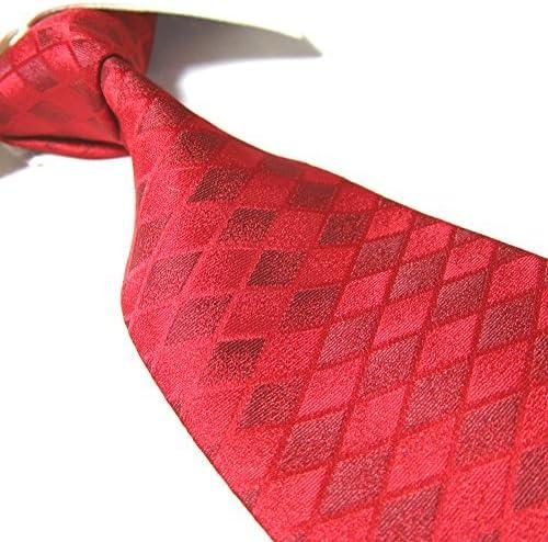 Towergem Extra Larga Corbata de Poliéster XL Rojo Hombre Corbata ...