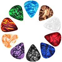 30 Pcs Guitar Picks Variety, Colroful Premium Celluloid Picks for Acoustic Electric Guitars Bass or Ukulele,with…