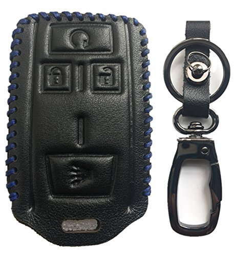 Rpkey Leather Keyless Entry Remote Control Key Fob Cover Case protector For Chevrolet Colorado Silverado 1500 2500 HD 3500 HD GMC Canyon Sierra 1500 2500 HD 3500 HD M3N-32337100 22881480 32337100