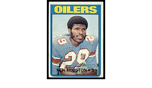1a12b912675 Amazon.com: Football NFL 1972 Topps #78 Ken Houston VG Very Good Oilers:  Collectibles & Fine Art