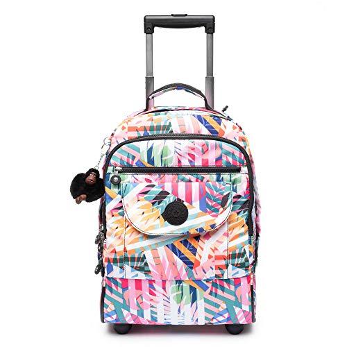 Kipling Luggage Sanaa Wheeled Backpack, patchwork garden (Kipling Cute Backpacks)