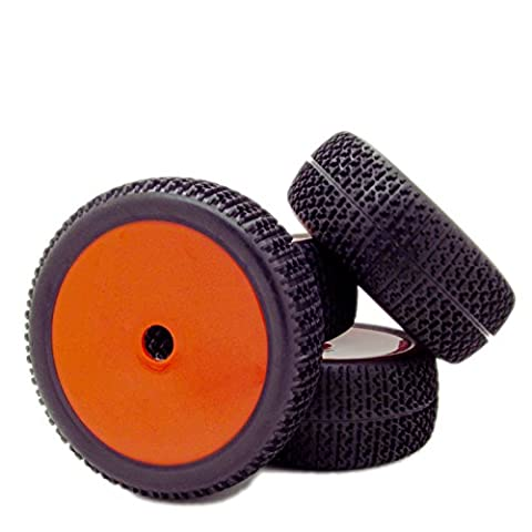 4pcs RC 1/8 Scale Off Road Car Buggy RC Tires Tyre and Wheels 17mm Hex, Red - 1/8 Buggy