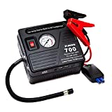 Portable Car Jump Starter with Air Compressor, 700 AMP/ 120 PSI, 18000 mAh Li-on Battery Jump Pack with Air Pump, 2USB Charging Ports & 2 LED Flashlight, Starter Car 6.0L Gas 5.0L Diesel by JF.EGWO